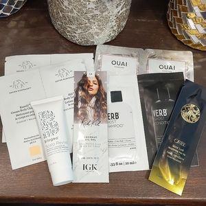 Hair and body care sample bundle (7 pcs)